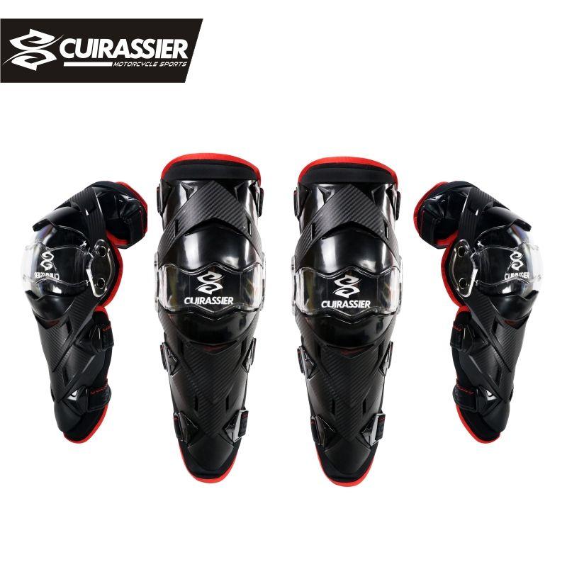 Cuirassier Motorcycle Knee Pads Motocross Kneepad Elbow Protector Guards MTB Protective Kneepad Moto Elbowpad Brace Support Gear