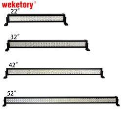 Weketory 22 32 42 52 дюймов 120 Вт 180 Вт 240 Вт 300 Вт светодиодные панели для работы для вождения лодка автомобилей Truck 4x4 внедорожник ATV Off road противотуман...