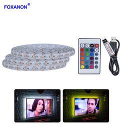 5 V USB Kabel Lampu Strip Light LED SMD 5050 2835 50 CM 1 M 2 M 3 M 4 M 5 M Natal Fleksibel LED Garis Lampu TV Pencahayaan Latar Belakang