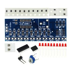 Smart Electronics Kits NE555+CD4017 Light Water Flowing Light LED Module DIY Kit