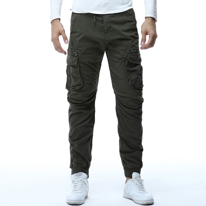 29-38  High Quality 2018 Men's Cargo Pants Casual Mens Pant Multi Pocket Military Overalls for Men Outdoors Long Trousers