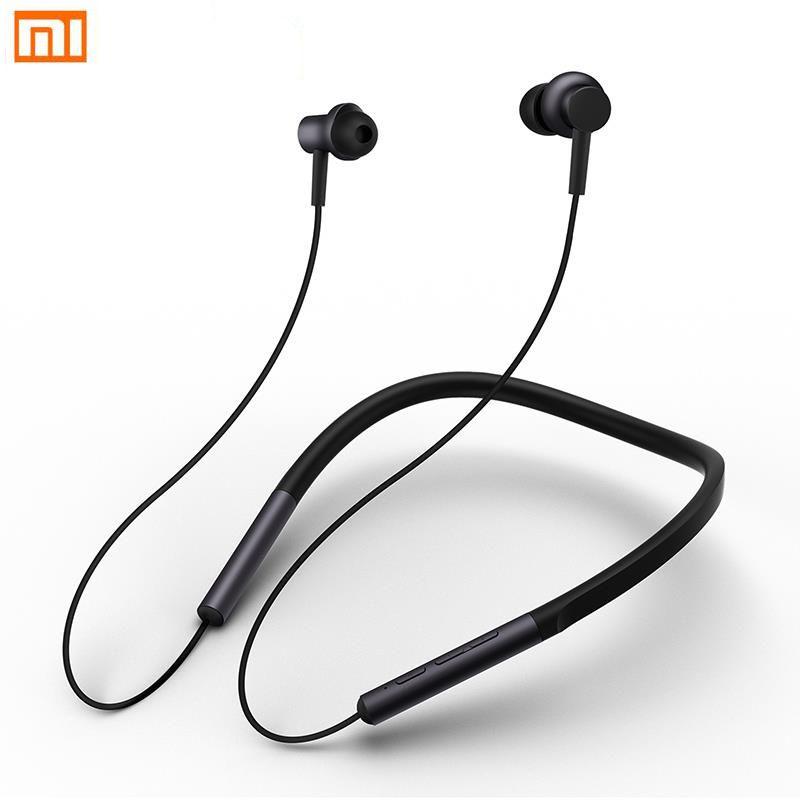 Xiaomi Mi Bluetooth Neckband Earphones Collar Earphones Wireless Hybrid Dual Driver Apt-x with Mic for Xiaomi Redmi 5 plus 4X A1