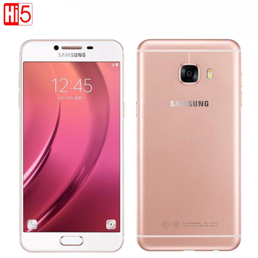 Samsung Galaxy C7 C7000 Mobile Téléphone 5.7 pouce 4 GB RAM 32 GB/64 GB ROM Octa Core Dual SIM 2.0 GHz 16MP Caméra 3300 mAh Android LTE