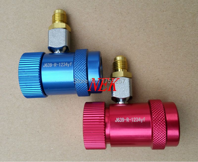 Free Shipping,New Refrigerant 1234YF Manual Quick Coupler High and Low M12*1.5,R1234 refrigerant joint filler transition joint