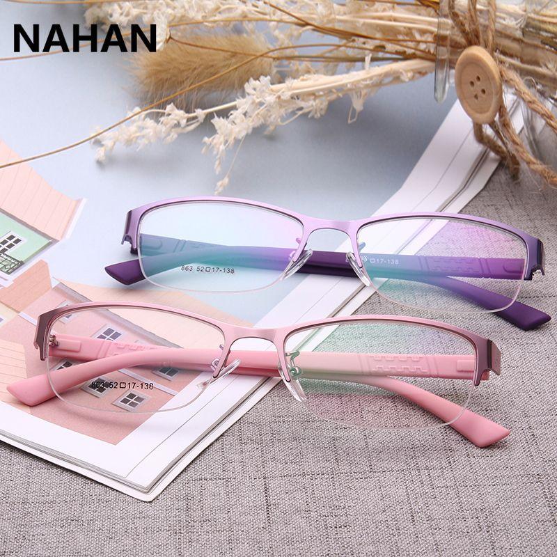 Plastic Titanium Glasses Frame TR90 Pure Colour Cute Super Light Female Grade Transparent Spectacle Frame with Clear Lens