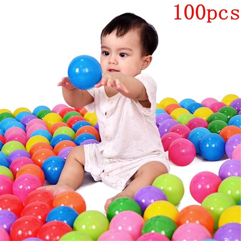100Pcs 8cm Ocean Balls Colorful Soft Plastic Balls Baby Kids Toys Swim Pit Game For Water Pool Ocean <font><b>Wave</b></font> Ball Baby Funny Toys