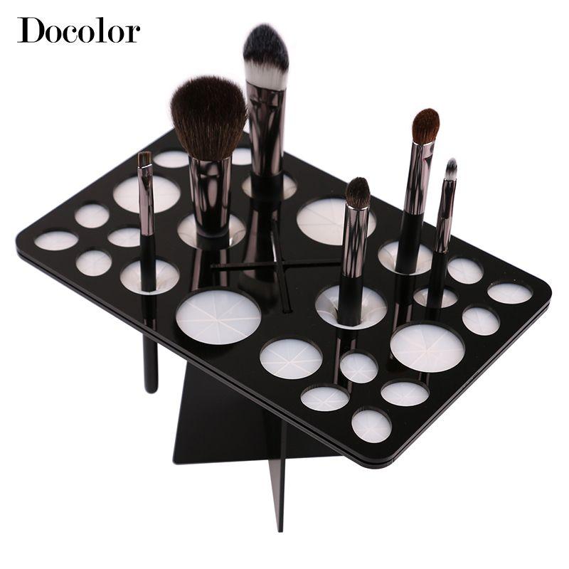 Docolor maquillage brosse organisateur Stand arbre sec brosse titulaire brosses accessoires cosmétiques brosses de côté accrocher outils livraison gratuite