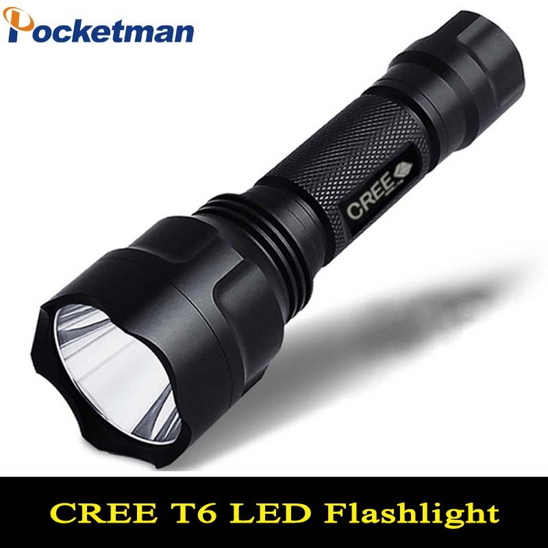 LED hunting Flashlight Torch 5 Modes Powerful Flashlight Cree Led Torch C8 Cree T6 light lantern nitecore For 1x18650 ZK93
