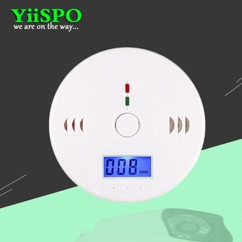 YiiSPO High Accuracy LCD Carbon Monoxide Detector Fire Alarm Monitor Smoke Sensor Detector For Home Security battery operated