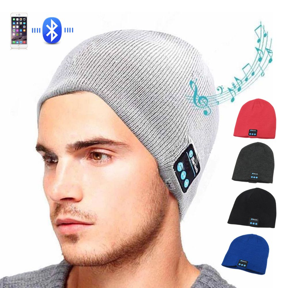Sports Smart Cap Bluetooth Headset wireless Colorful Music Warm Winter Knitted Hats Stereo handsfree headphone for smartphone