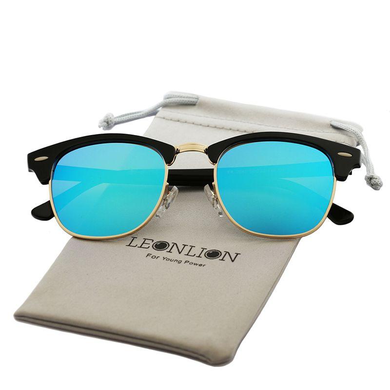 LeonLion Vintage Halbrand Marke Designer Sonnenbrille Frauen/Männer Polarisierte UV400 Klassische Oculos De Sol Gafas Retro Sun gläser