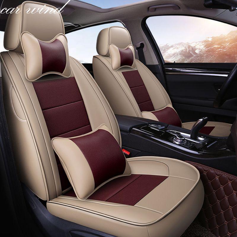 Auto Wind Auto automovil leder auto sitzbezug für hyundai ix35 creta honda cr-v volvo v40 jeep renegade BMW f11 auto zubehör