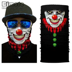 Face Mask Mix of Devil and Angel Outdoor Masks Riding Cycling Neck Tube Warmer Protector Ski Scarf Balaclava