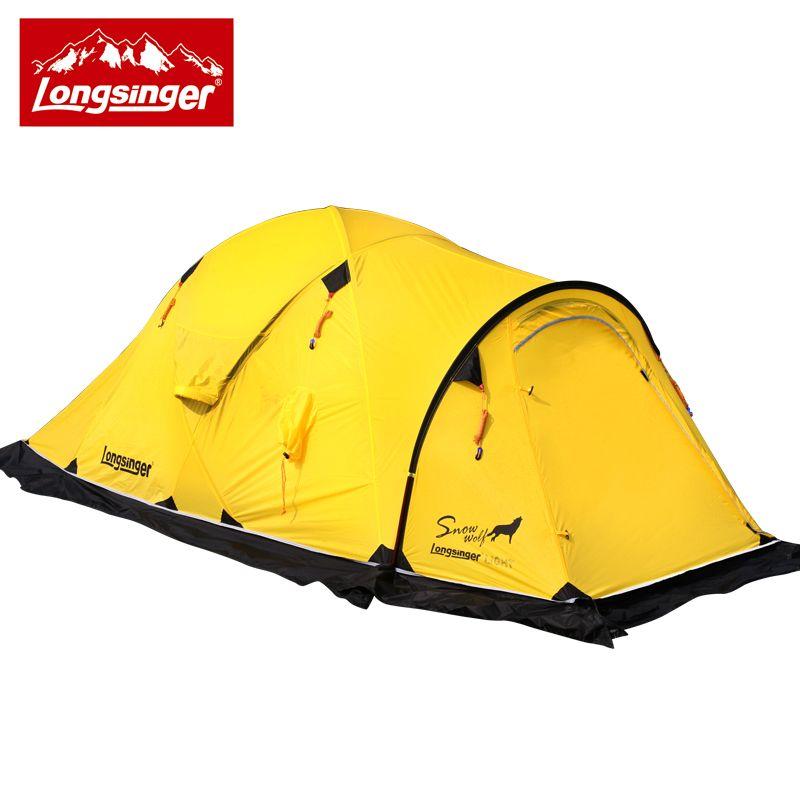 Longsinger/Silicon ultra-licht doppel schicht outdoor camping wandern zelt winter zelt