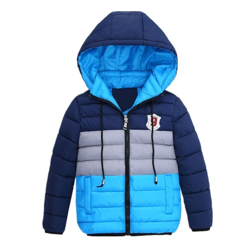 Boys Blue winter coats & Jacket <font><b>kids</b></font> Zipper jackets Boys thick Winter jacket high quality Boy Winter Coat <font><b>kids</b></font> clothes