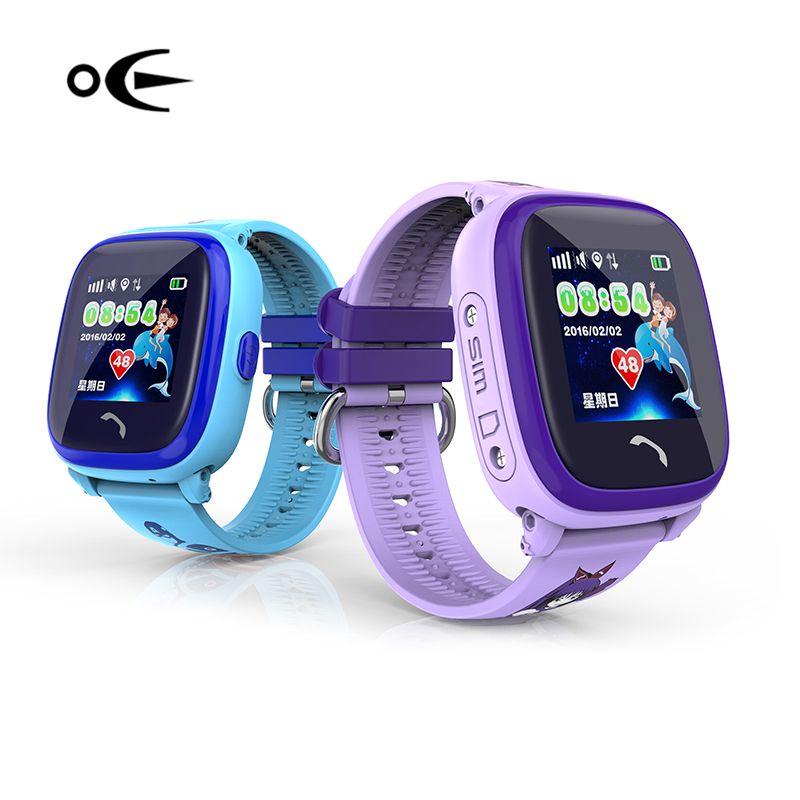 Niños Natación Niño Reloj Smartwatch GPS táctil teléfono reloj inteligente Dispositivo de Localización de Llamadas SOS Tracker Monitor de Seguridad Anti-Perdido
