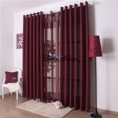 Fenêtre Dépistage rideaux pour salon (panne 150*270*2 pcs + tulle 300*265 cm) solide lavande cortinas voile même comme photo