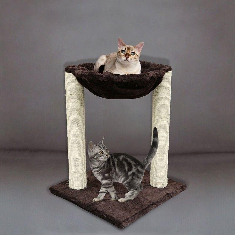 20 kratzen Post Katze Baum Möbel mit Hängematte Bett Domestic Lieferung Katze Spielzeug Kratzen Holz Klettern Baum 918