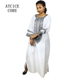 african dresses for women Dashiki  Dresses bazin riche traditional african clothing Long Sleeve For ladies without scarf  A226#