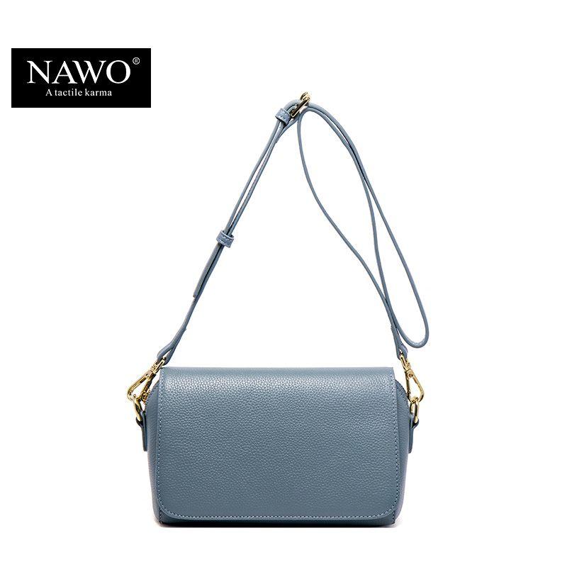 NAWO Fashion Brand Genuine Leather Messenger Bag Famous Brand Women Shoulder Bag Envelope Women Clutch Bag Small Crossbody bag