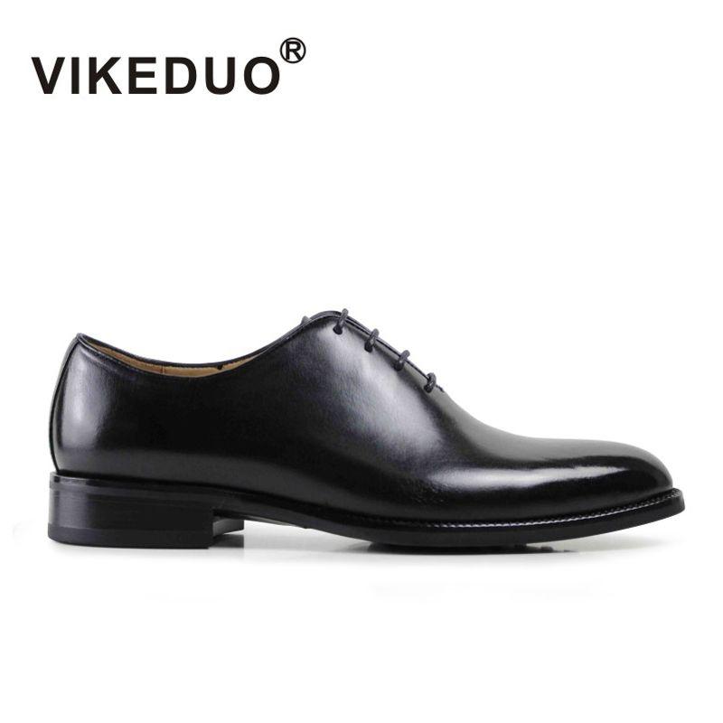 Vikeduo männer Formale Oxford Schuhe Aus Echtem Leder Schwarz Mode Büro Hochzeit Business Männlichen Kleid Schuhe Blake Patina Schuhe