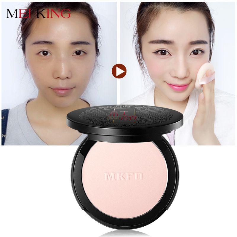 MEIKING naturel Fix poudre contrôle de l'huile durable visage finition blanchissant maquillage illuminer fond de teint Rose plante poudre correcteur