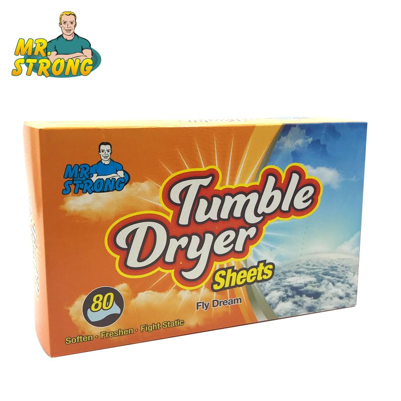 80pcs/box Tumble Dryer Clothes Controlling Orange Scent Static Cling In Fabrics Fabric Softener Sheets For Clothes Drop Shipping