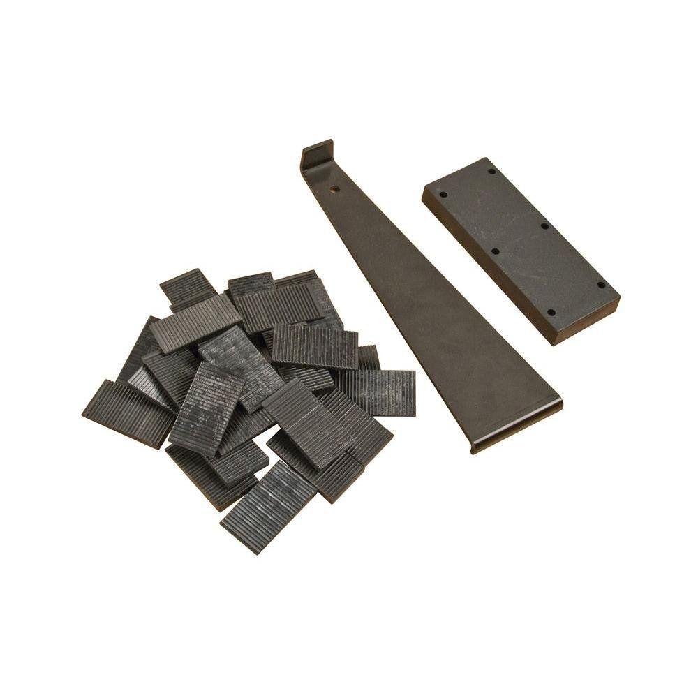 Vente chaude revêtement de Sol Stratifié Installation Kit avec Bloc de Frappe, tirez Bar et 30 Wedge Entretoises