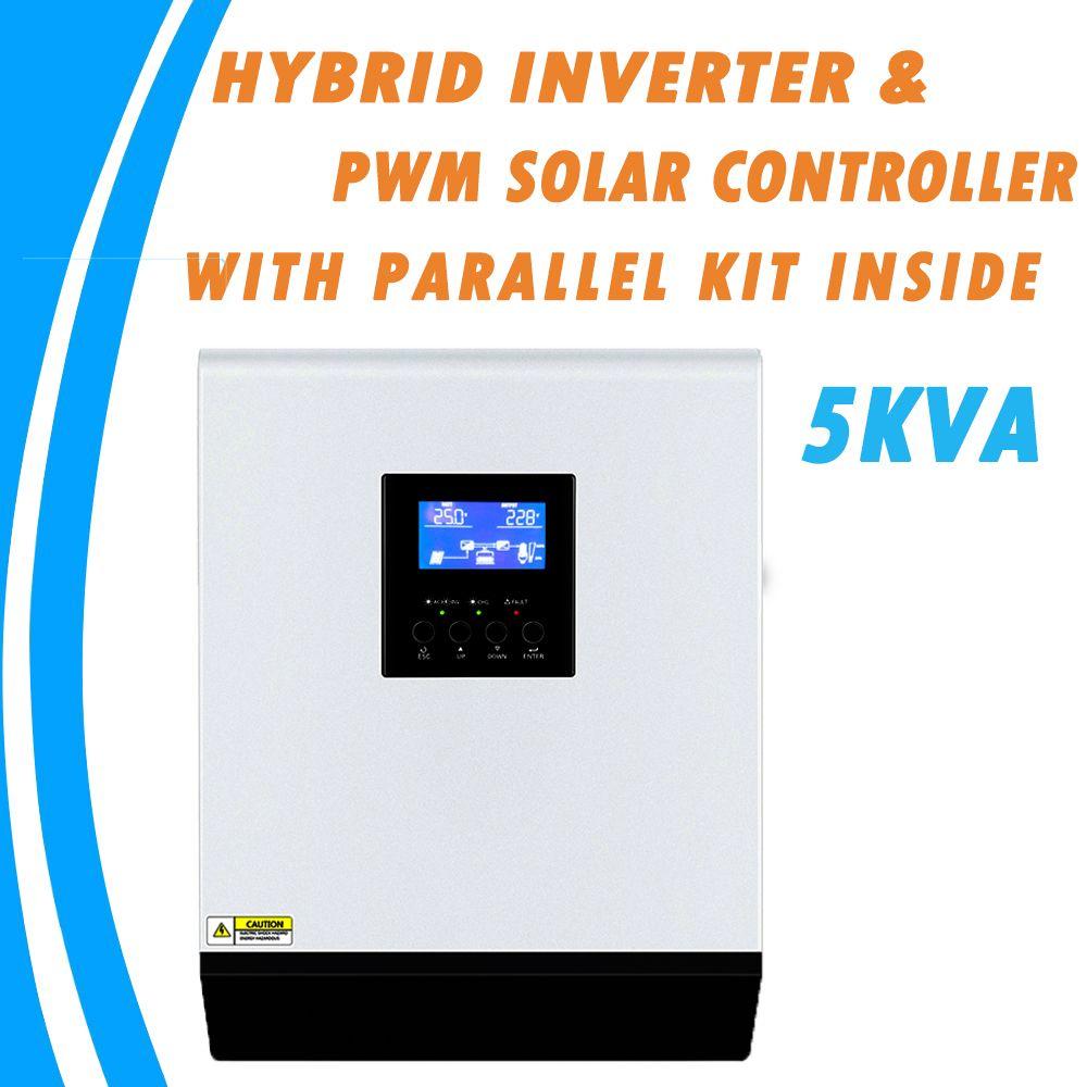 5KVA Reine Sinus Welle Hybrid Solar Inverter 48V 220V Eingebaute 50A PWM Laderegler und AC Ladegerät mit parallel Kit Innen