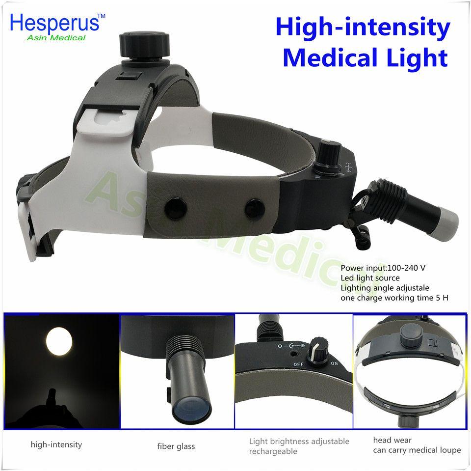 DEASIN 2018 brightness Adjustable Dental Surgical Headlight LED Headlamp Black Medical Lab Equipments