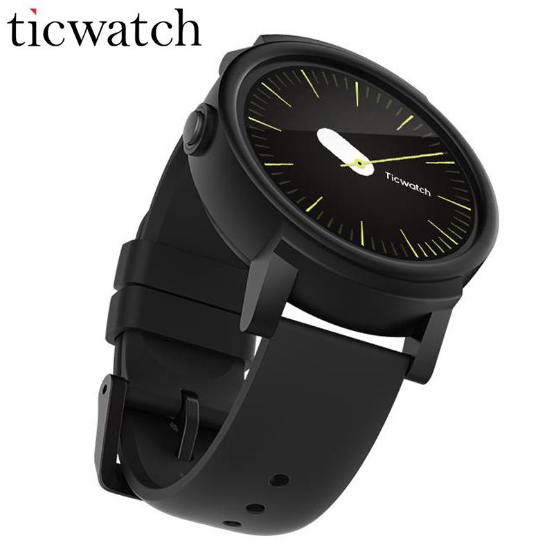 Original Ticwatch E Shadow Smart Watch Android Wear MT2601 Dual Core Bluetooth 4.1 WIFI GPS Smartwatch Phone IP67 Waterproof