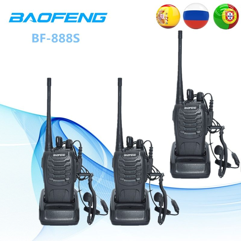 3PCS Baofeng BF-888S Two-Way Radio BF 888S 6km Walkie Talkie 5W Portable CB Radio Handheld HF Transceiver Interphone BF888S