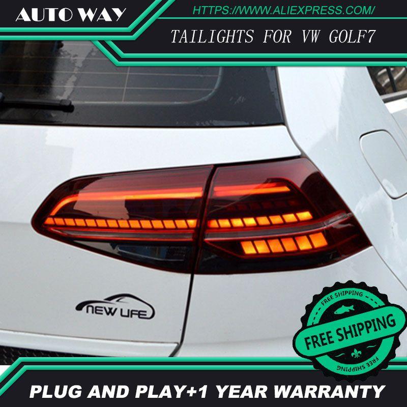 Car Styling case for Volkswagen VW Golf 7 MK7 Golf7 Golf7.5 MK7.5 Design LED TAIL Lights All LED Rear Lamp dynamic turn signal