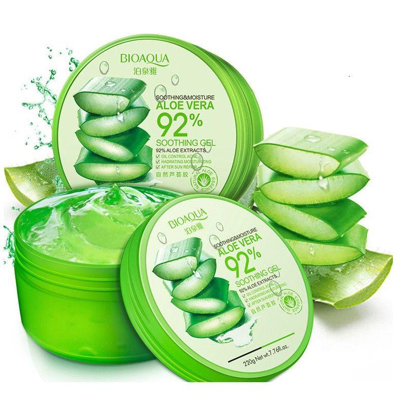 100% pur Gel d'aloe Vera naturel lissant crème réparatrice d'humidité élimine l'œdème Sunblock masque pour le visage