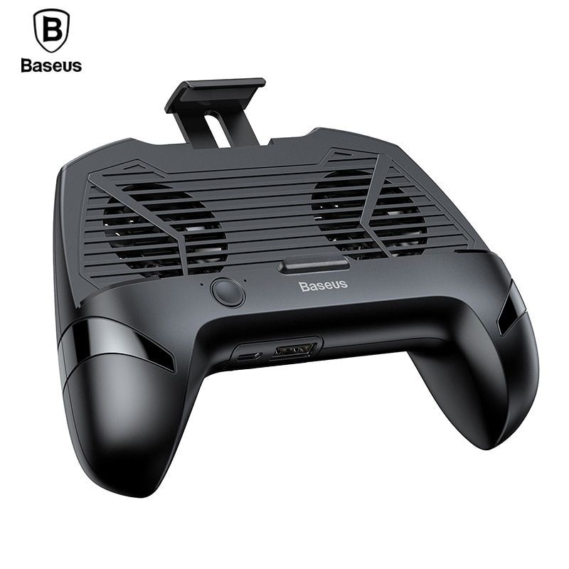 Baseus Phone Holder For iPhone X Samsung Gamepad Game Handle Holder Cooling Controller Support Charge Mobile Phone Holder Stand