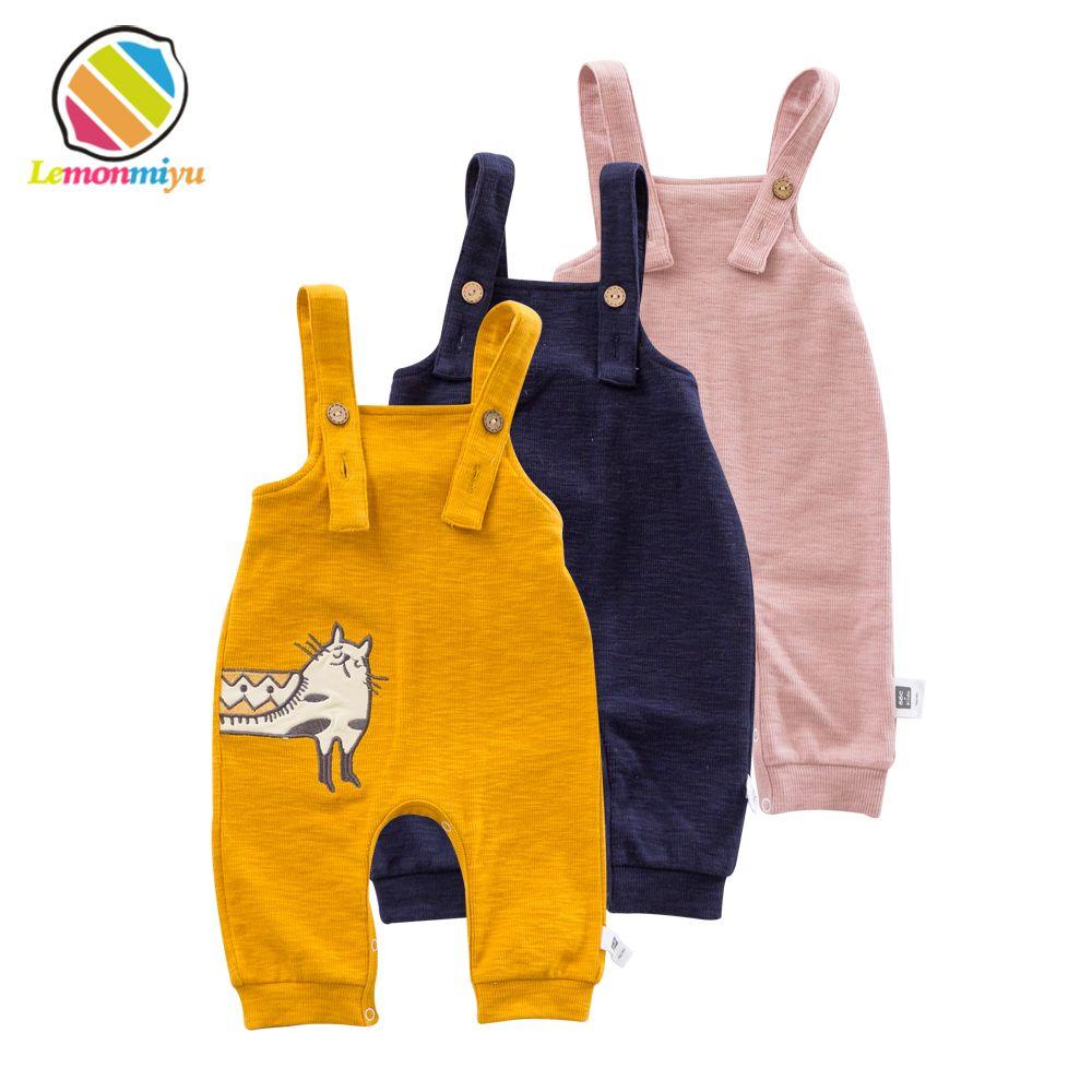 Lemonmiyu Coton Bib Enfant Salopette Animal de Bande Dessinée Chat Bébé Garçon Fille Bib Pantalon Printemps Automne Lâche Occasionnel Infantile Pantalon