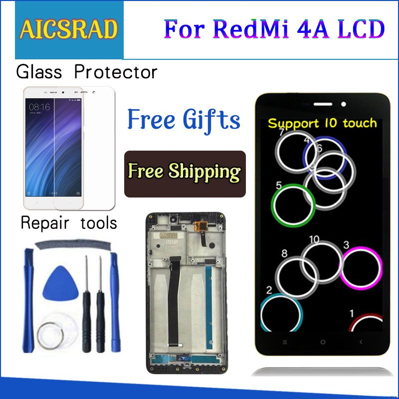 AICSRAD 5.0 LCD For XIAOMI Redmi 4A LCD Display Touch Screen Digitizer Replacement For XIAOMI Redmi 4A Display With Frame