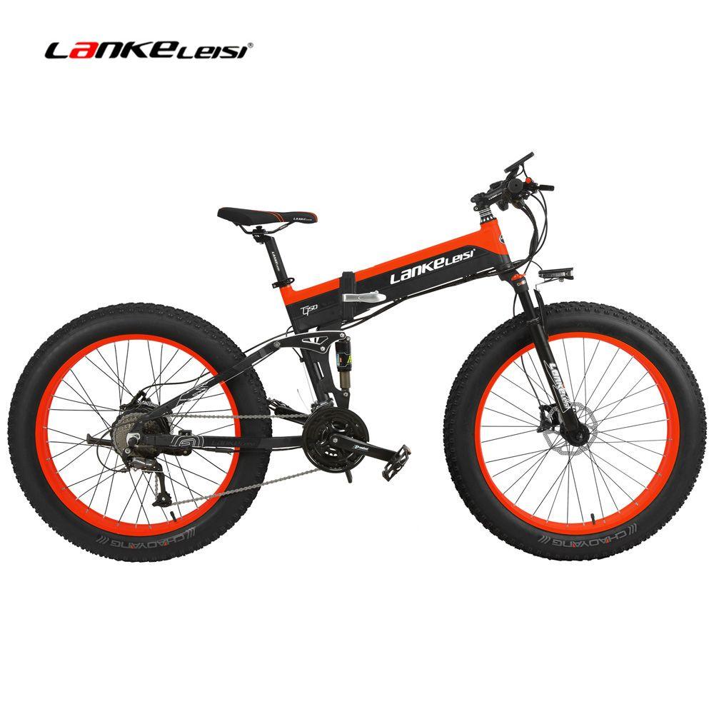 T750Plus 1000 W Elektrische Mountainbike 27 Geschwindigkeit Schnee Bike Klapp Ebike Citybike Rennrad 5 PAS Full Suspension 26'' 4,0 Fett Reifen
