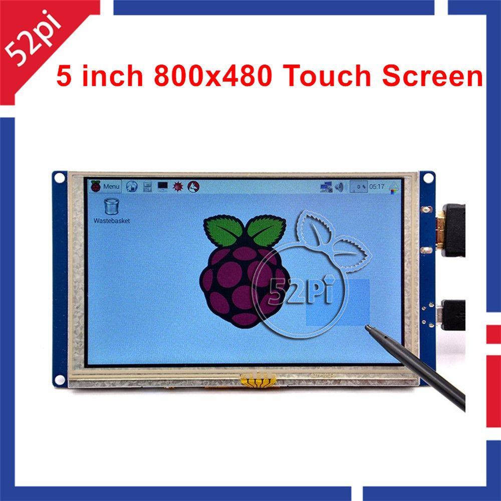 52Pi Nave de CN/EE. UU./REINO UNIDO! Driver libre 5 pulgadas 800*480 TFT LCD de Pantalla Táctil HDMI para Raspberry Pi 3/2/B +//PC Con Windows