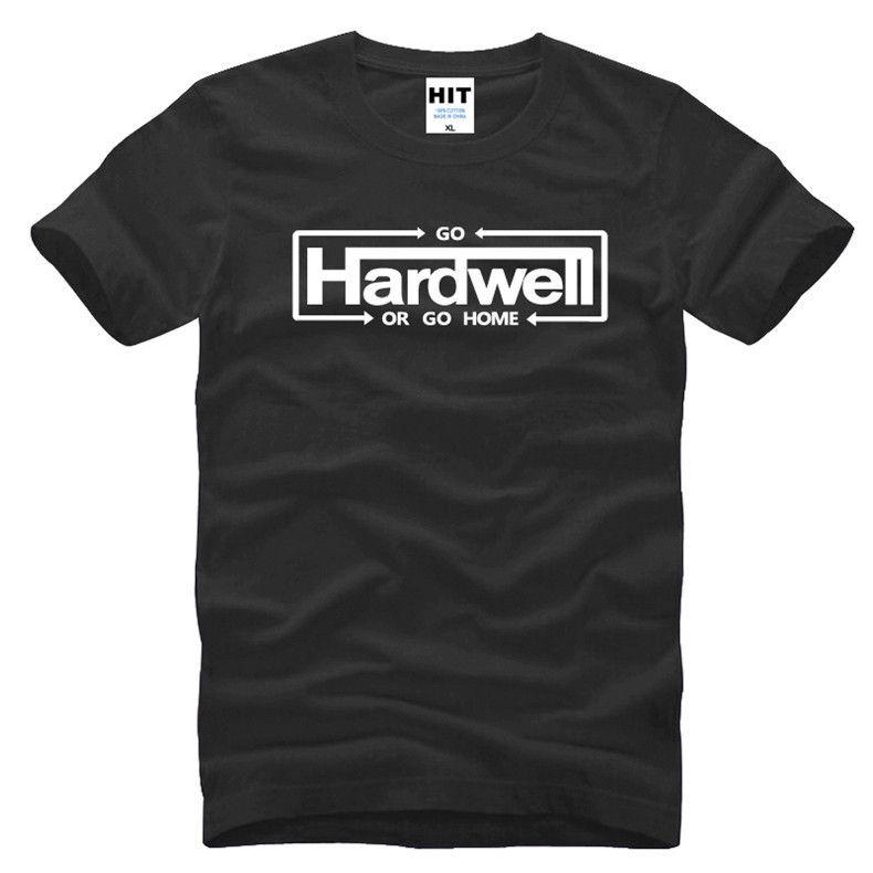ALLER HARDWELL OU RENTRER À LA MAISON DJ Hip Hop Musique Hommes Hommes T-shirt T-shirt De Mode 2016 Nouveau Coton T-shirt Tee Camisetas Masculina