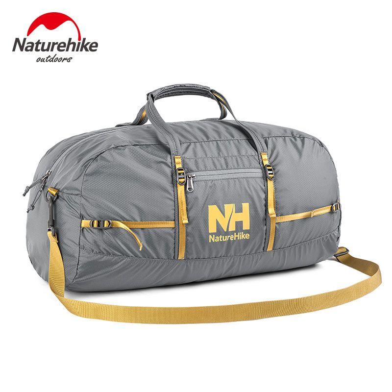 NatureHike Nylon Faltbare Taschen Große Kapazität Sporttasche Sporttaschen Frauen Tragbare Einzelnen Schulter Barrel Gym Totes Sporttasche