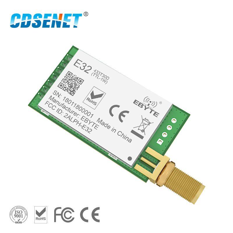 LoRa SX1278 SX1276 433 MHz rf Module Émetteur Récepteur 8000 m E32-433T30D UART Longue Portée 433 MHz 1 W Sans Fil rf Émetteur-Récepteur