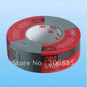 100% Original 3 Mt 6969 S Tuch klebeband/Ruban gießen condults band/strong wasserdicht backing/48mm * 55 Mt/Silber farbe