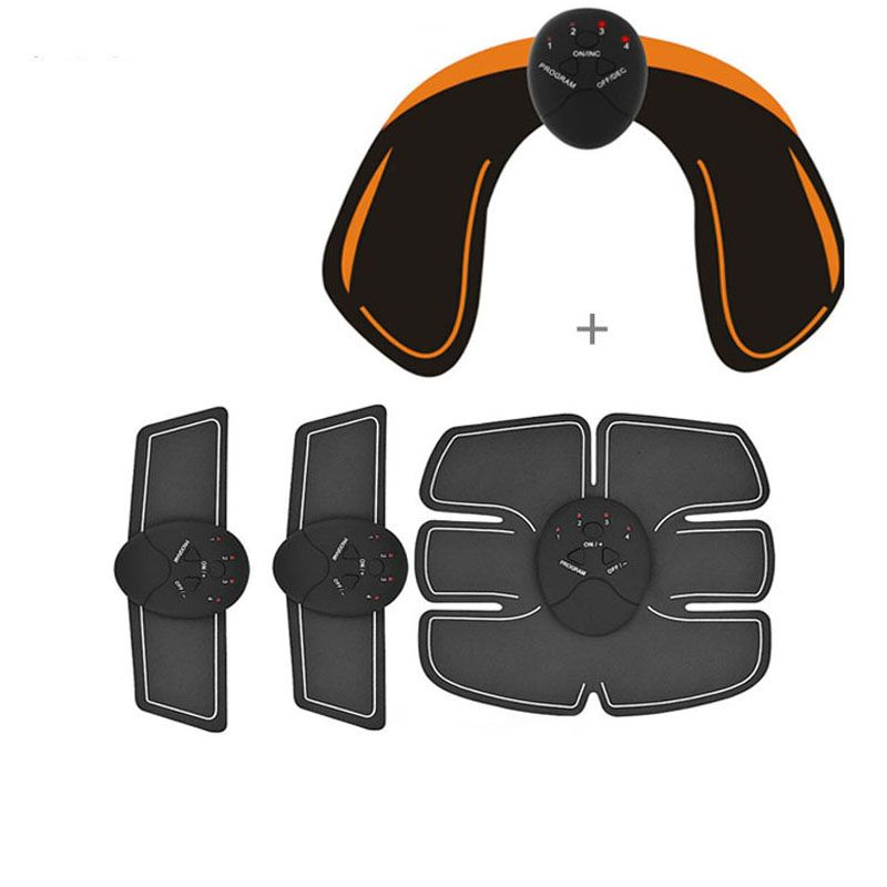 YOSYO 6 PACK EMS Smart Muscle Stimulator Abdominal Trainer Pad + EMS Hip Trainer Buttocks Butt Lifting Slimming Massager Unisex