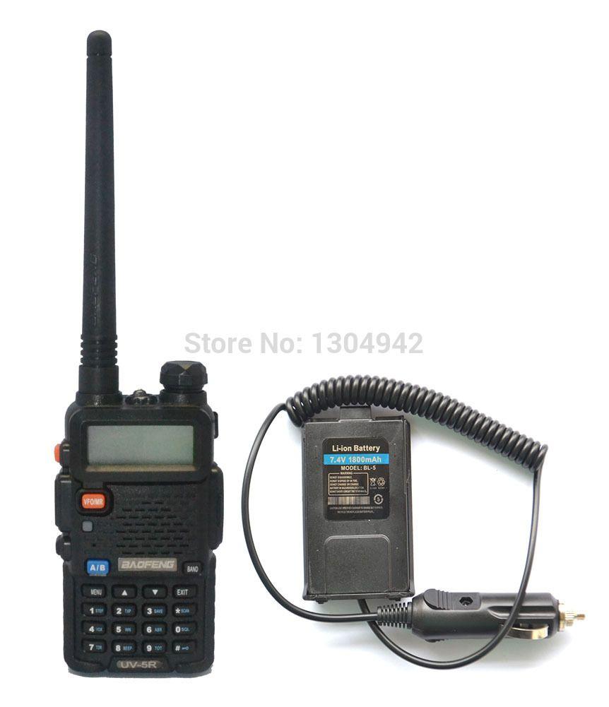 BAOFENG UV-5R VHF/UHF Dual Band Walkie Talkie +Original Battery Eliminator Handy Hunting Radio Receiver With Headfone