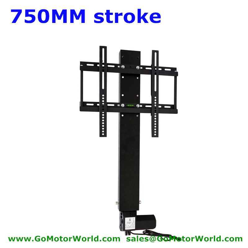 TV lift lifter TV lift stands system 110-240V AC input 750mm 30inch stroke with remote and controller and mounting parts