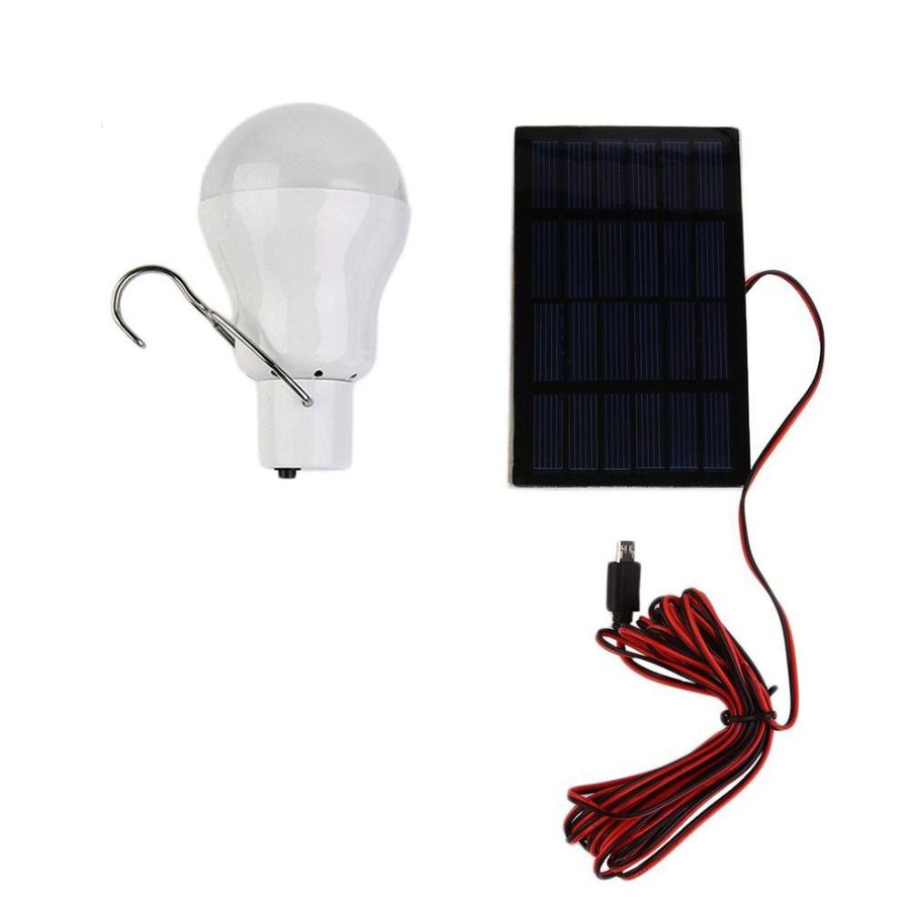15 W 130LM Portable Solaire Puissance LED Ampoule Solaire Alimenté Lumière Solaire Chargé D'énergie Lampe Éclairage Extérieur Camp Tente De Pêche lumière