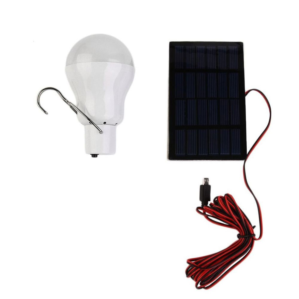 15 W Portable énergie solaire LED ampoule 130LM alimenté lumière chargée énergie lampe éclairage extérieur Camp tente pêche lumières livraison directe