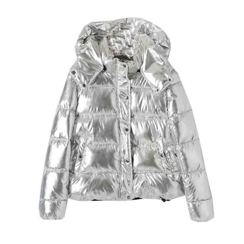 BONU 2018 Thicken Hooded Winter Jacket Women Parka Coat Casual silver Parka Warm Plus Size Jaqueta Feminina Warm Large Size Coat