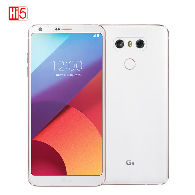 Original LG G6 Mobile Phone 4G RAM 64G ROM Quad-core Dual 13MP Camera 821 Single/Dual SIM 4G LTE 5.7 inch 3300mAh Cellphone
